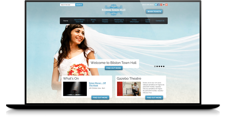 Example Website Design.